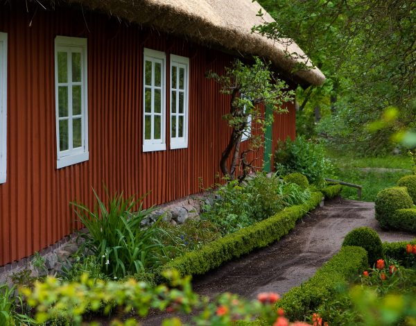 Traditional swedish house in Skansen, Stockholm.